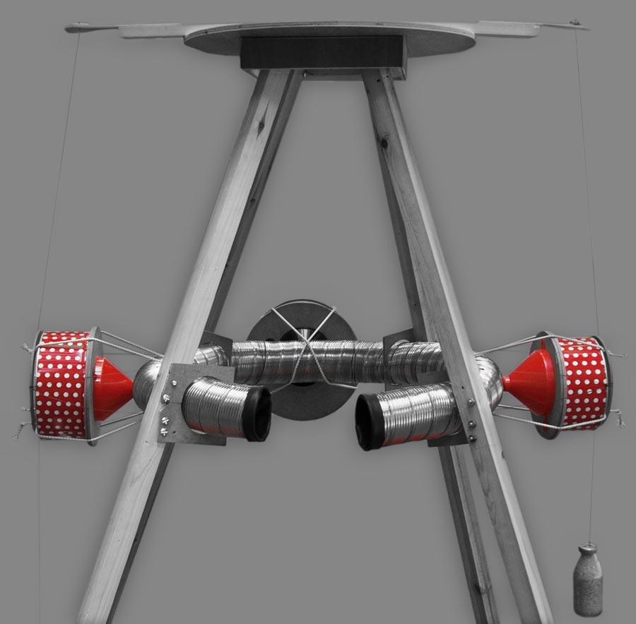 Theo Jones architecture Surround Sound Pendulums interactive device