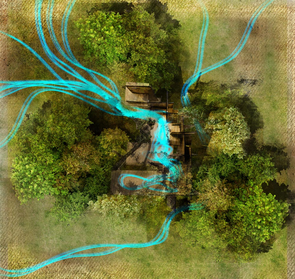 Theo Jones architecture Crystal Palace Park tree climbing pavilion aerial view in the trees
