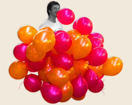 Theo Jones architecture Balloons for Salamanca installation building