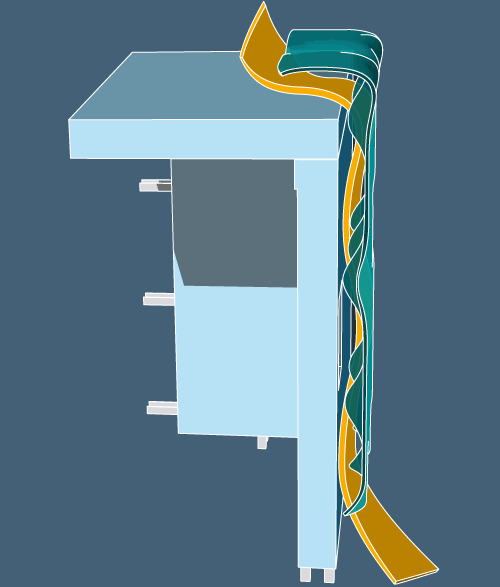 Theo Jones architecture bioplastic composite wall structure illustration axo drawing diagram airgap cavity