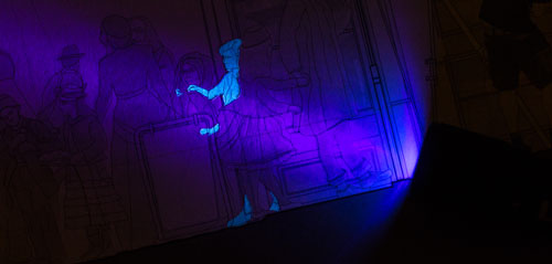 Theo Jones architecture International Magic Shop london section UV ultra violet drawing hidden