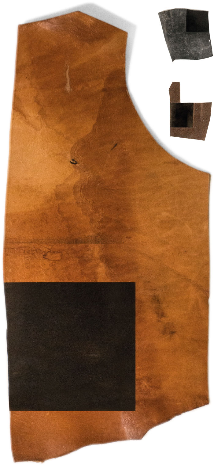 Theo Jones architecture Pocket Dyers and Associates leather sample test