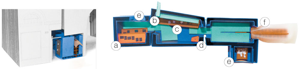 Theo Jones architecture Pocket Dyers and Associates physical card model