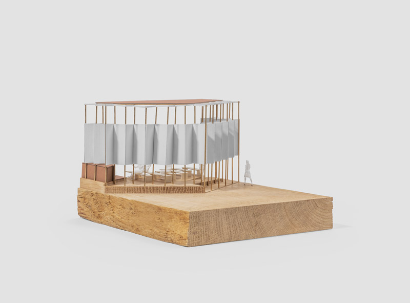 Theo Jones architecture model wood CNC